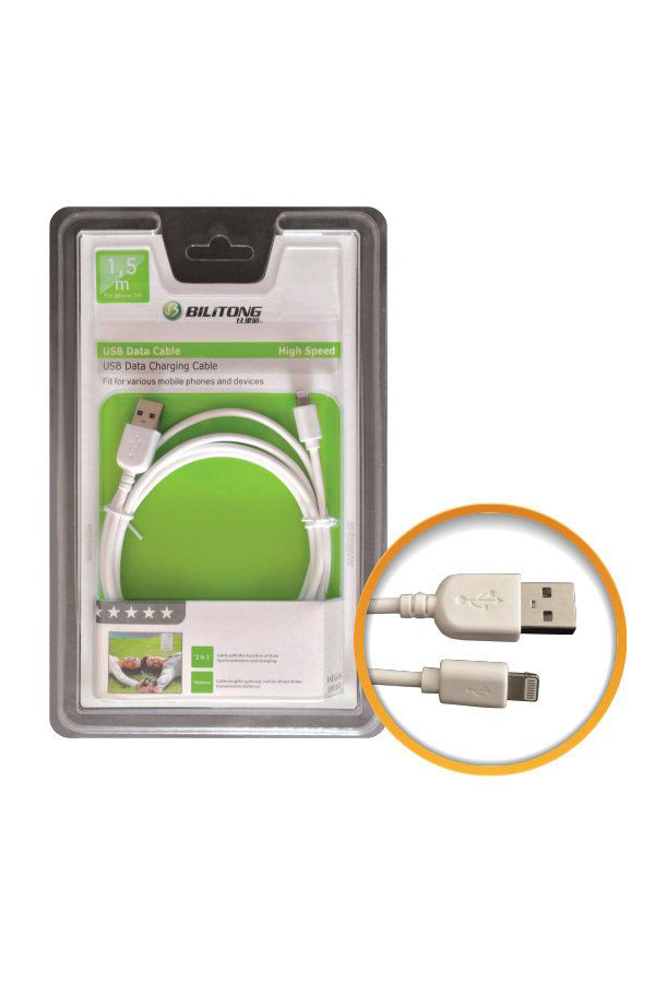Bilitong IP5/6 USB Data Cable (White)
