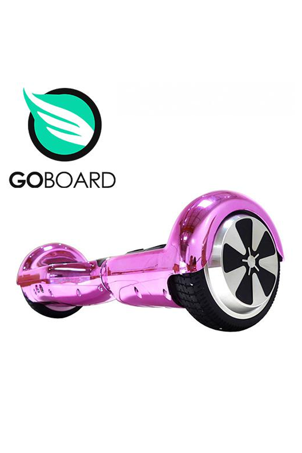 GoBoard 2.0 Hoverboard (with LG battery) – Chrome Pink