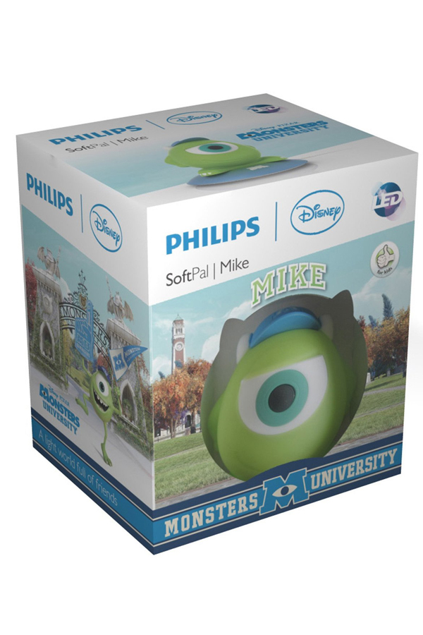 Philips Disney Mike SoftPal Guided Night Light and Table Lamp – 1 x 1 W Integrated LED