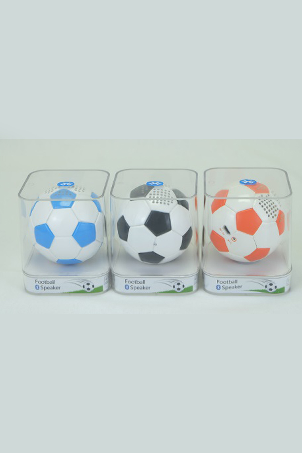 Football Design PU Leather Wireless Bluetooth Speaker mini Subwoofer hands calling 600mAh battery Display Roly Poly Gravity