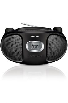 Philips AZ105B/05 Boombox FM Radio Stereo CD Player - Black