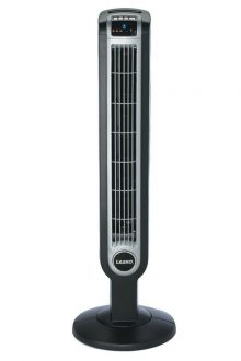 Lasko 2505 36-Inch Remote Control Tower Fan with Ionizer, Black