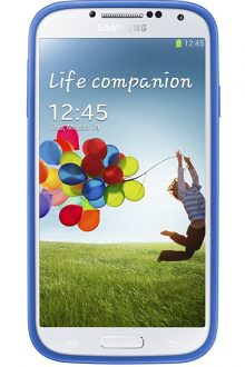Samsung Protective Bumper Cover Plus Case for Galaxy S4 (Light Blue)