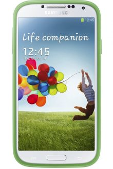 Samsung Protective Bumper Cover Plus Case for Galaxy S4 (Green)