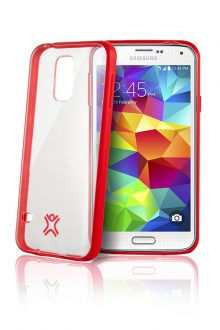 XtremeMac Microshield Accent case for Samsung Galaxy S5 (SGS-MA5-73 Red)