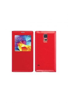 XtremeMac Window Book Case for Samsung Galaxy S5 (SGS-WB5-73 Red)