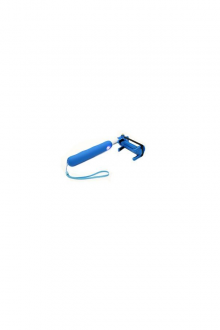ICONZ Mini Bluetooth Selfie Stick Rubberized Blue