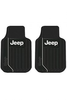 Jeep Logo Elite Series Front & Rear Car Truck SUV Seat Rubber Floor Mats