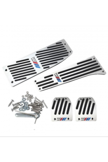 Car Accessory Aluminum Footrest M Pedal Pad Set For BMW X1 E30 E36 E46 E90 E87 E92 E93 car-styling jn23