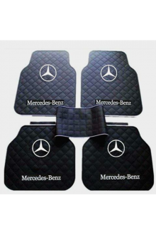 """ 2-Pcs-Latex-Rubber-Auto-Car-Floor-Mats-Mercedes Benz"""