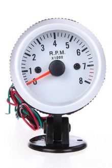 "Auto Vehicle Tachometer Tach Gauge with Holder Cup for Auto Car 2"" 52mm 0~8000RPM Blue LED Light DHL K1069"