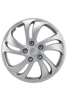 "14"" Silver Sport Wheel Cover 4 pack"