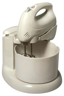 KENWOOD WHITE HAND MIXER WITH STAND AND BOWL (HM430)