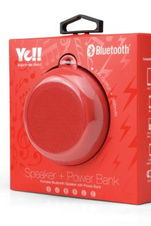 YELL BUBBLE BTS760 PORTABLE BLUETOOTH SPEAKER WITH POWER BANK