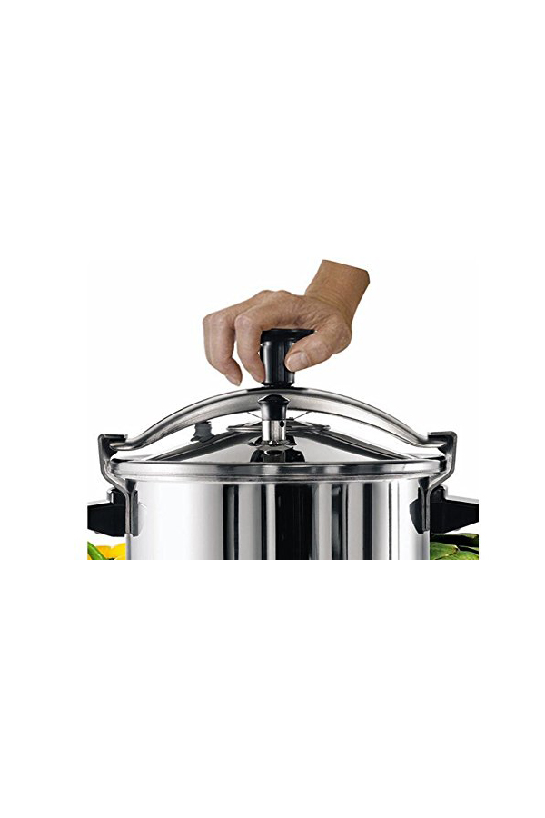 """ Tefal Authentic Stainless Steel 10 Litre Pressure Cooker"""