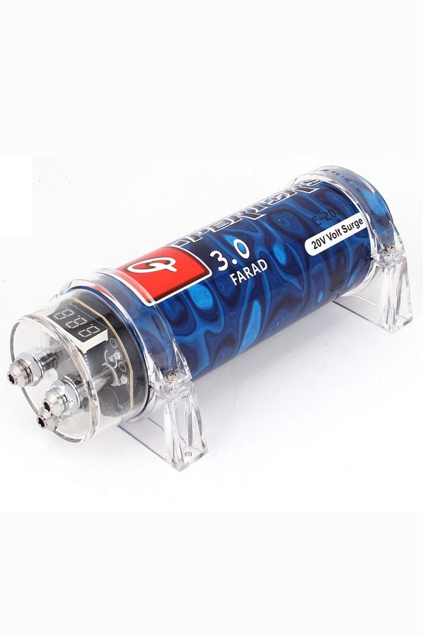 3 0 Digital Power Capacitor 3 LED Digital Voltage Display 20V For Car Track
